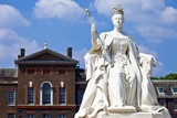 Queen Victoria Statue at Kensington Palace in London poster