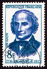 Postage stamp France 1958 Joseph Louis Lagrange, Mathematician