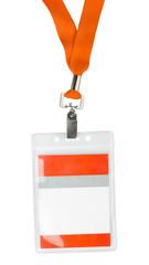 Id plastic badge holder