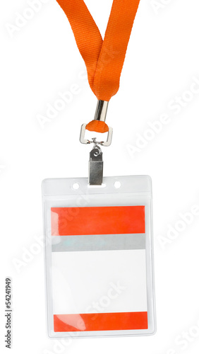 Id plastic badge holder