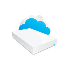 Wireless cloud storage NAS icon vector illustration