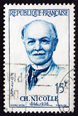 Postage stamp France 1958 Charles Nicolle, French Physicians