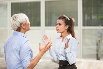 Arguing businesswoman