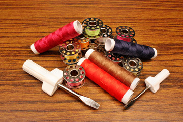 Colorful threads for sewing machine