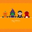 Halloween Pumpkin, Witch, Vampire & Devil Dots