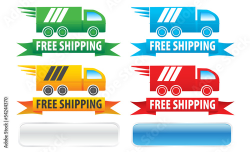 Free Shipping Trucks, Ribbons And Extra Buttons