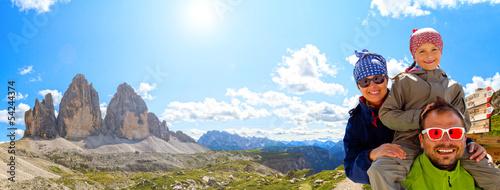 Family on hike, Tre Cime di Lavaredo - Dolomite - Italy - 54244374