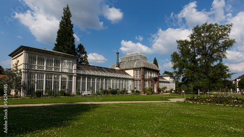 Bergpark Wilhelmshohe in Kassel the glasshouse