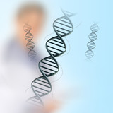 dna in medical colour background