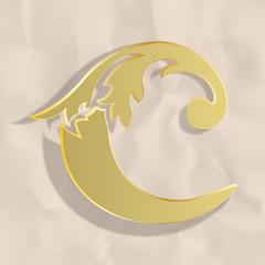 Vintage initials letter c
