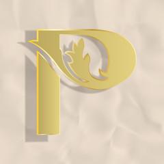 Vintage initials letter p