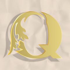 Vintage initials letter q