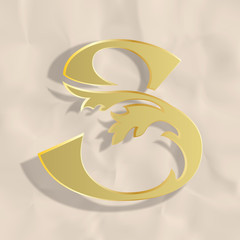 Vintage initials letter s