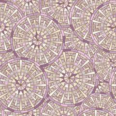 Seamless  round mosaic pattern