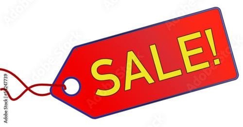 Sale Verkauf Anhänger rot  #130715-svg02