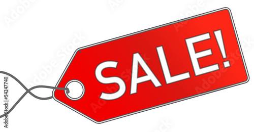 Sale Verkauf Anhänger rot  #130715-svg01