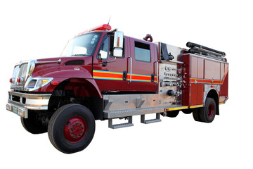 Isolated Fire Truck Picture