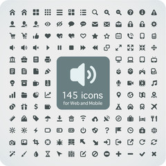 Set of 145 quality icons for Web and Mobile. 16x16