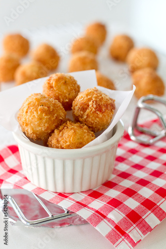Fritters served