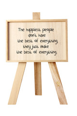 Easel with Message of Motivation