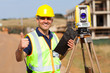 land surveyor giving thumb up