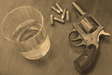 alcohol and gun or firearm