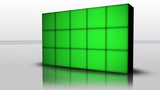 Falling Green Screen Cubes, Loop - HD1080
