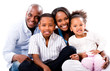 Casual family portrait