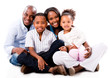 Beautiful African American family