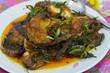 Choo Chee Pla  Curry-Fried Fish Thai Cuisine.