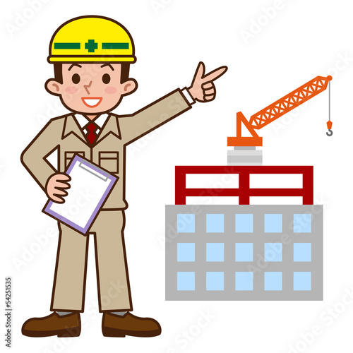 建設現場と現場監督