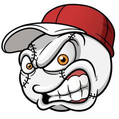 Vector illustration of Baseball Cartoon Ball