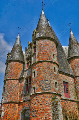 renaissance castle of Carrouges in Normandie