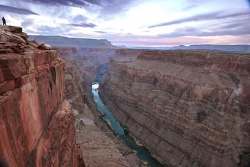 sunrise over eroded rock panoramic Toroweap canyon, North Rim, G