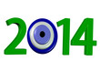 nazar boncuklu yeşil 2014