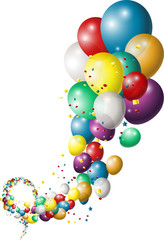 background with beauty multicolored balloons