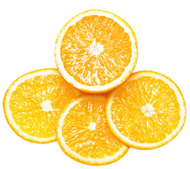 fresh orange isolated over white background