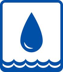 big water drop and wave