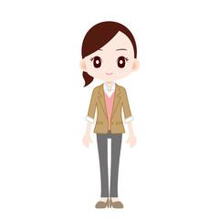 オフィスカジュアルの女性 ジャケット パンツ