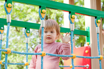 toddler  in playground area