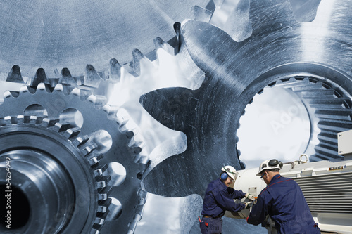 engineering, machinery and workers, gears and cogs