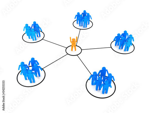 Conceptual image of teamwork. 3D image