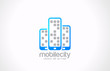 Mobile phones logo design. Mobile city business concept