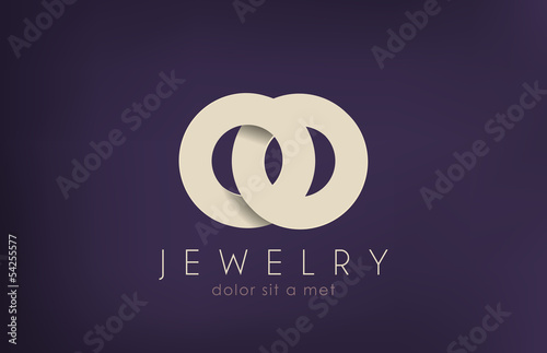 Luxury Jewelry Fashion vector logo design. Creative concept