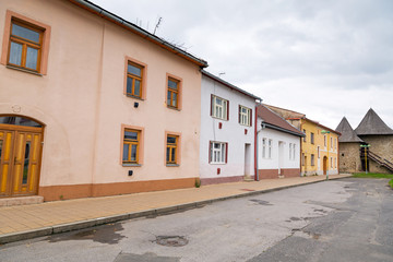 Streets of Podolínec town in northern Slovakia