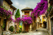Leinwanddruck Bild - art beautiful old town of Provence