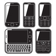 mobile phone set. With QWERTY keyboard, Touchscreen and slider.