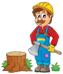 Image with lumberjack theme 1