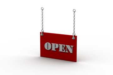 Open Sign Hanging