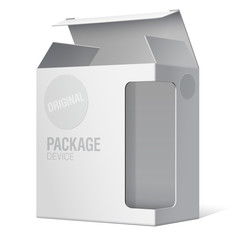 Realistic Package Box. For Software, device